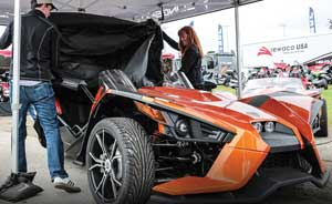 Polaris unveiled this Limited Edition version of the Slingshot SL during Bike Week in Daytona Beach.