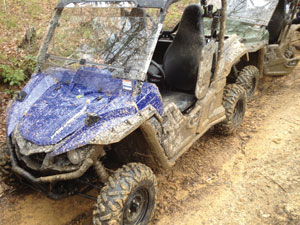 The Wolverine R-Spec's On-Command 4wd system got a workout at Brimstone as did the rider.