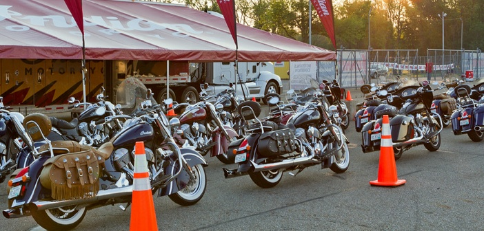 """""""BikeBandit.comAMA Vintage Motorcycle Days, featuring Indian Motorcycle at Mid-Ohio Sports Car Complex, July 11-13, 2014 near Lexington, Ohio. Photo by Jeff Guciardo/American Motorcyclist Association."""""""