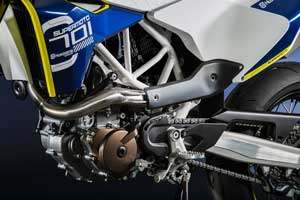 Husqvarna, back home under Pierer Industries AG ownership, has the knowledge and technology to squeeze the most out of the 701's single-cylinder engine.