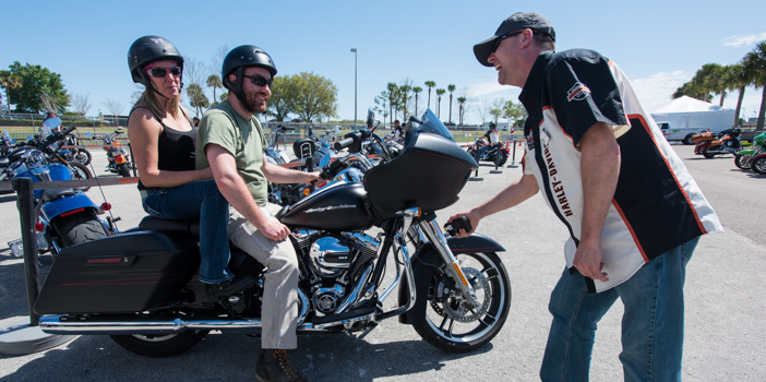 Daytona Beach Bike Week 2015. FL, USA. Monday March 9, 2015.  Photography ©2015 Michael Lichter.