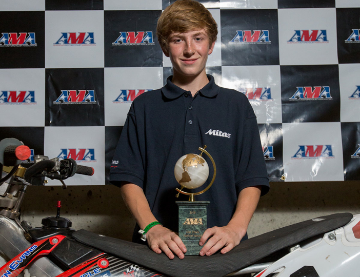 2015 AMA Dirt Track Horizon Award winner, Kevin Stollings, from last year's AMA Dirt Track Grand