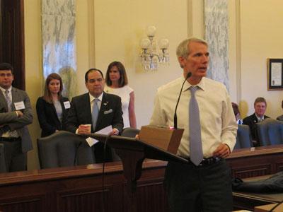 MIC Board Members lobbying at the office of Ohio Senator Rob Portman.