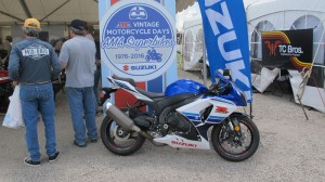 Suzuki celebrated 40 years of the Superbike at last month's Vintage Motorcycle Days.