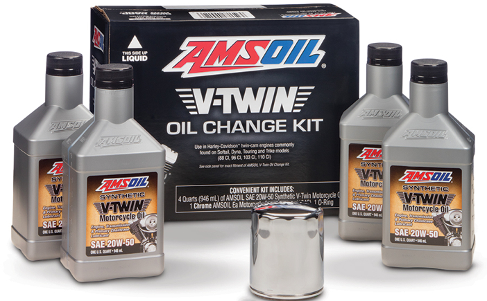Amsoil V Twin Oil Change Kit Motorcycle Powersports News
