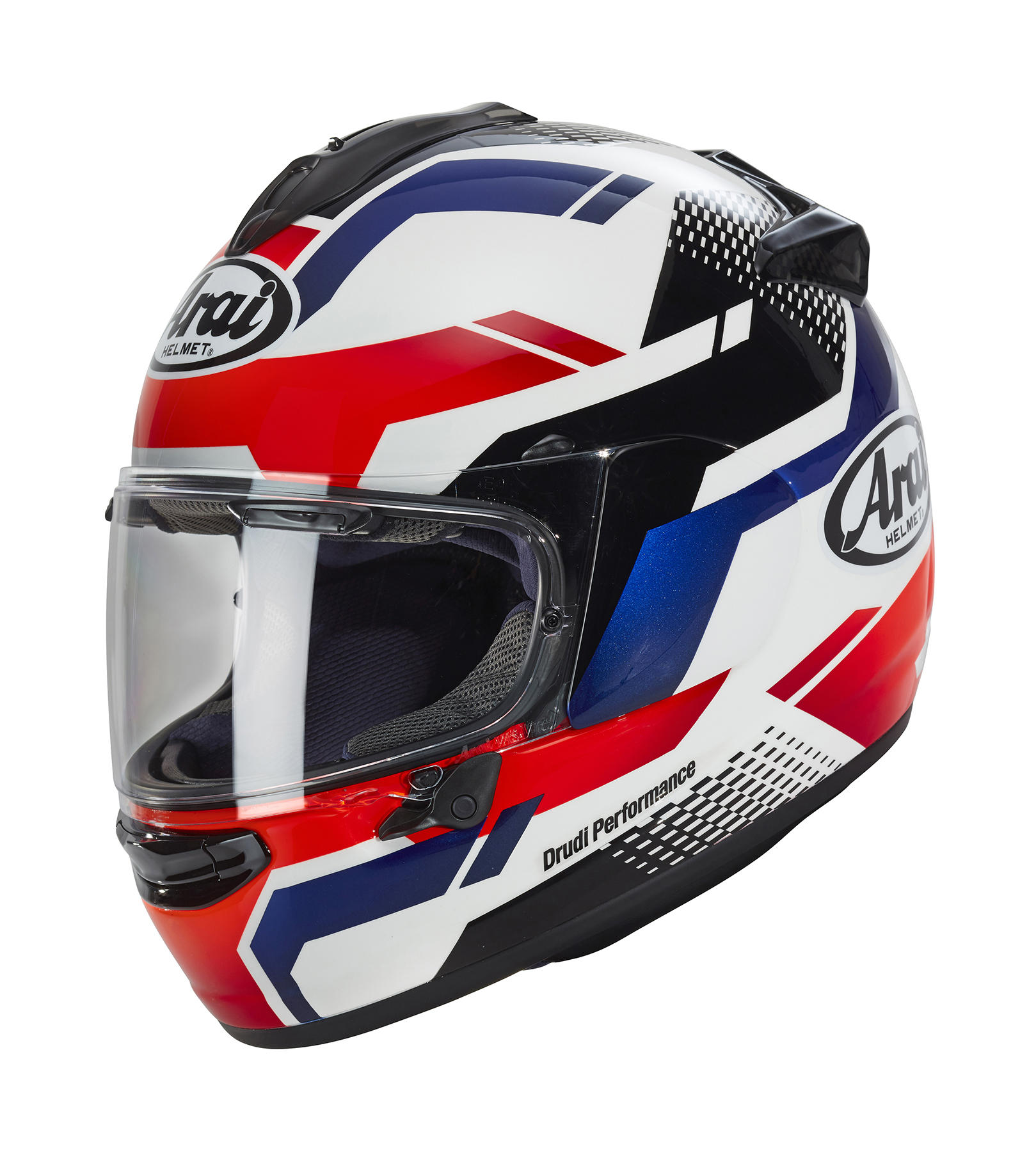 Arai Quantum X Cliff Red White