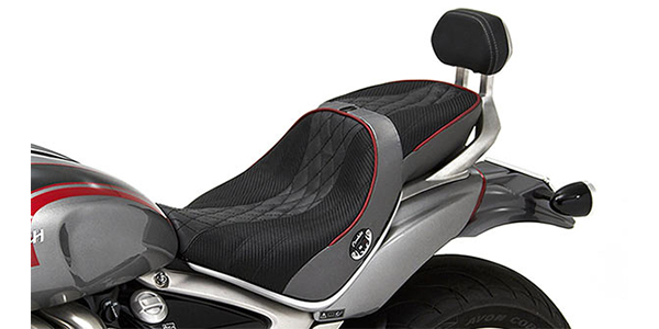 F and R Black Touring with Springs Seat Saddle